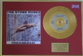 "THE STONE ROSES - 24 Carat Gold Disc 7""+ cover - FOOLS GOLD"